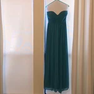 Donna Morgan Long Chiffon Strapless Dress